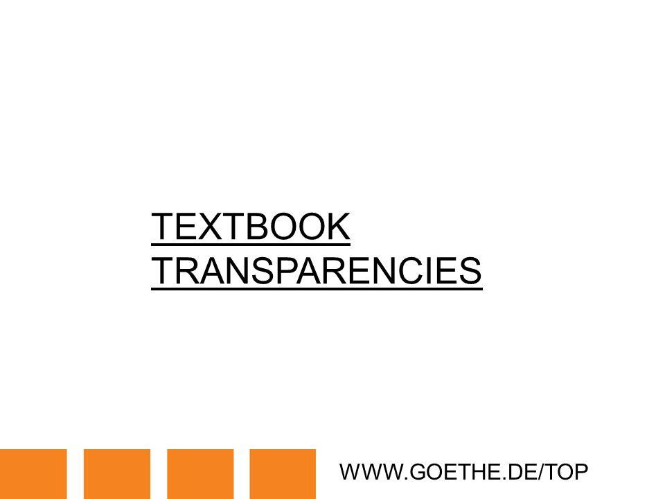 WWW.GOETHE.DE/TOP TEXTBOOK TRANSPARENCIES