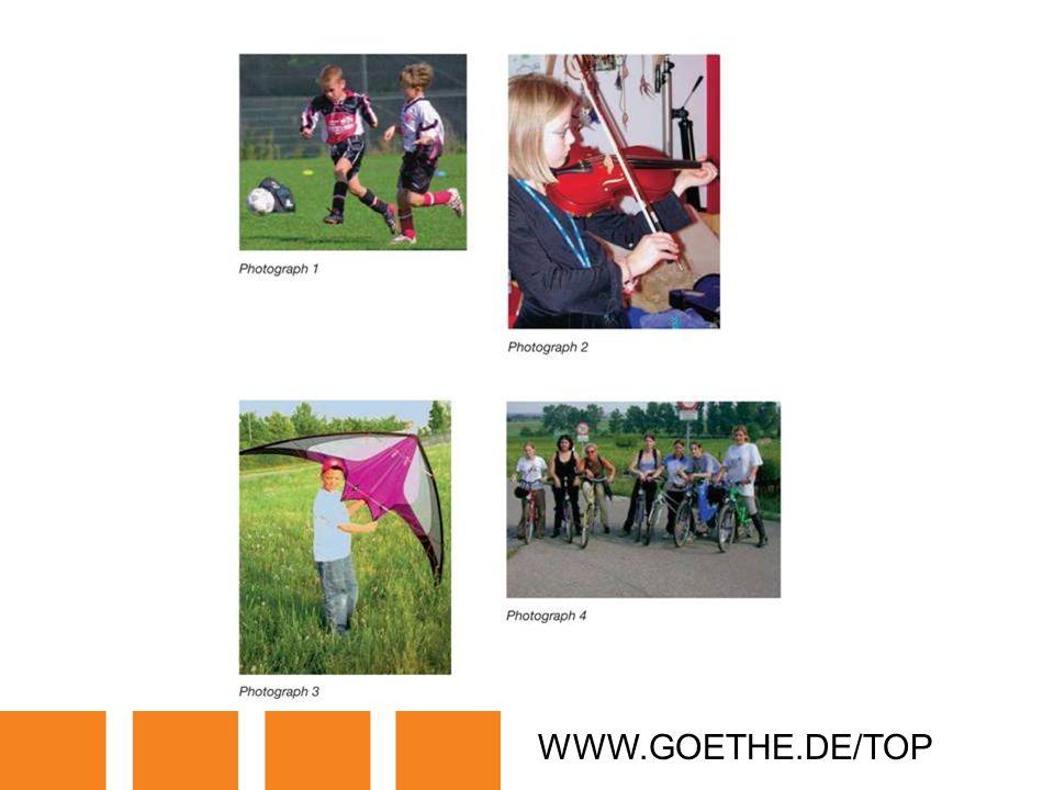 WWW.GOETHE.DE/TOP TRANSPARENCY 8: LEISURE TIME