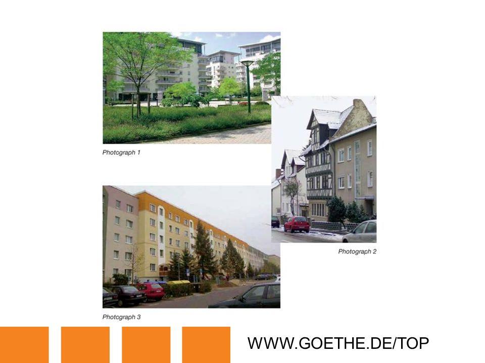 WWW.GOETHE.DE/TOP TRANSPARENCY 10: HOMES IN GERMANY