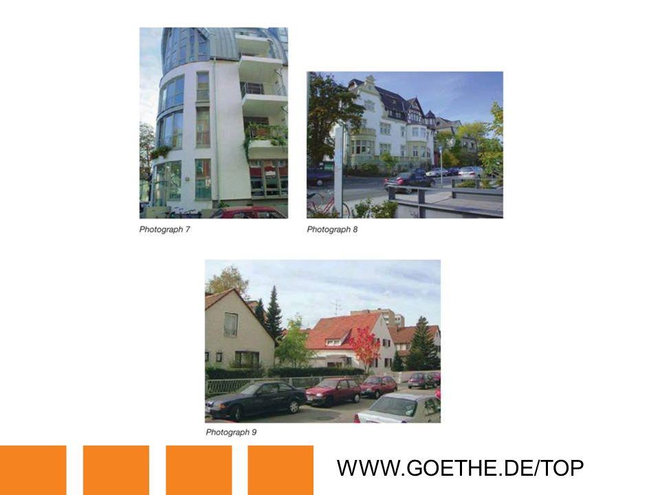 WWW.GOETHE.DE/TOP TRANSPARENCY 10B: HOMES IN GERMANY
