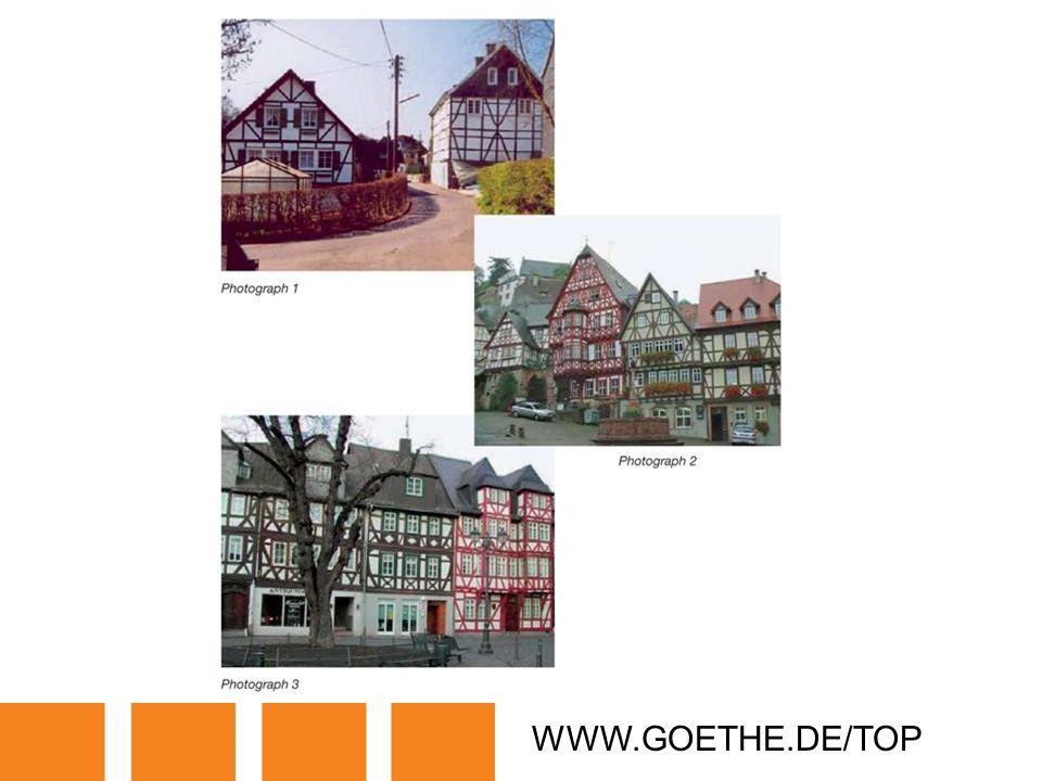 WWW.GOETHE.DE/TOP TRANSPARENCY 11: HALF-TIMBER BUILDINGS