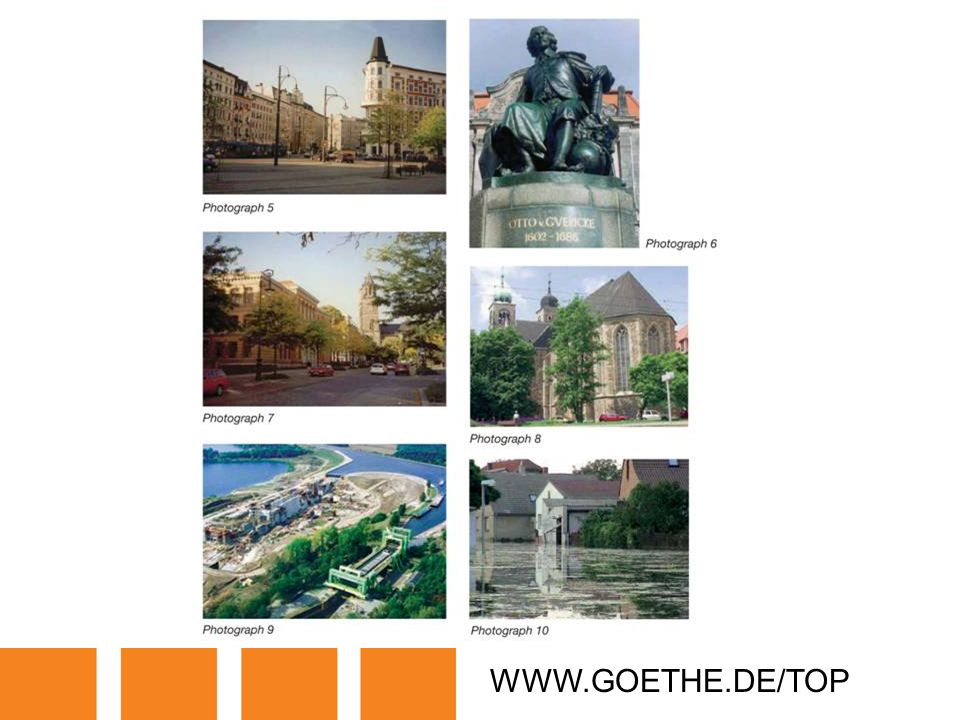 WWW.GOETHE.DE/TOP TRANSPARENCY 16A: MAGDEBURG
