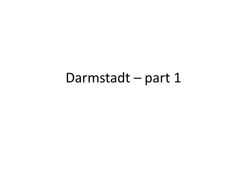 Darmstadt – part 1
