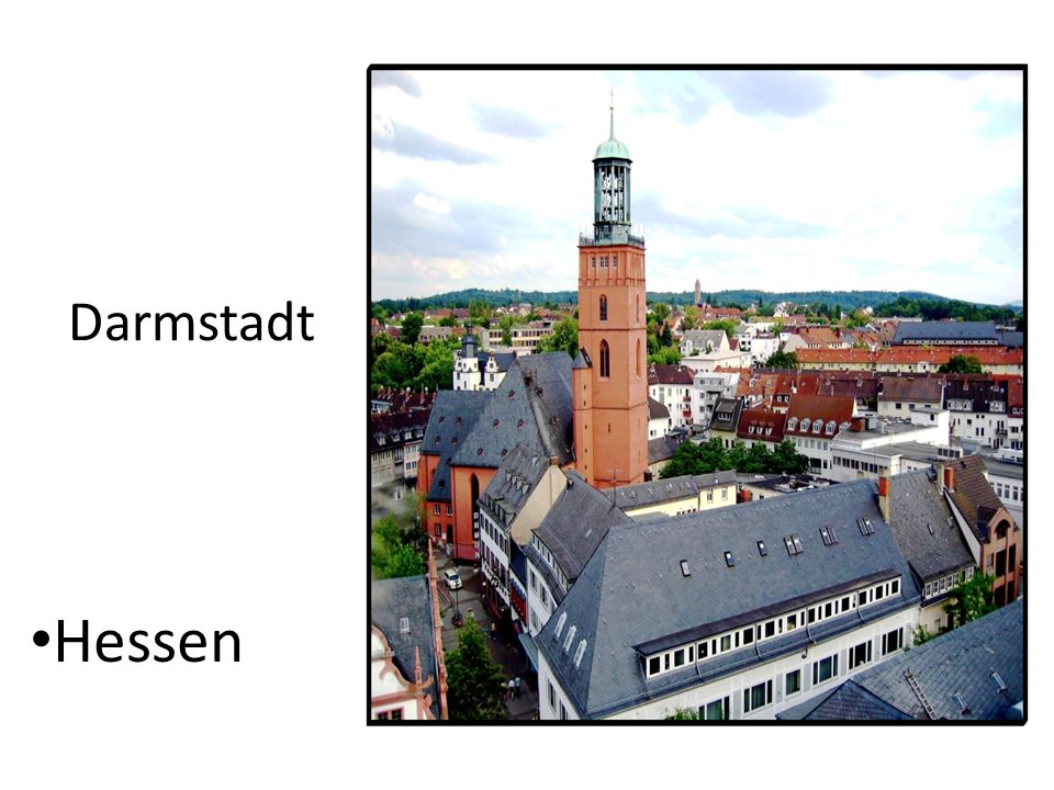 Location Darmstadt is the southern regional center of Rhine-Main.