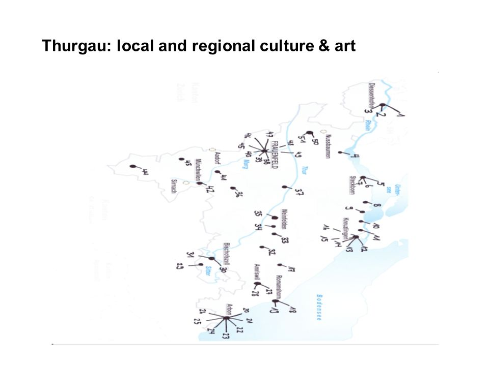 Thurgau: local and regional culture & art