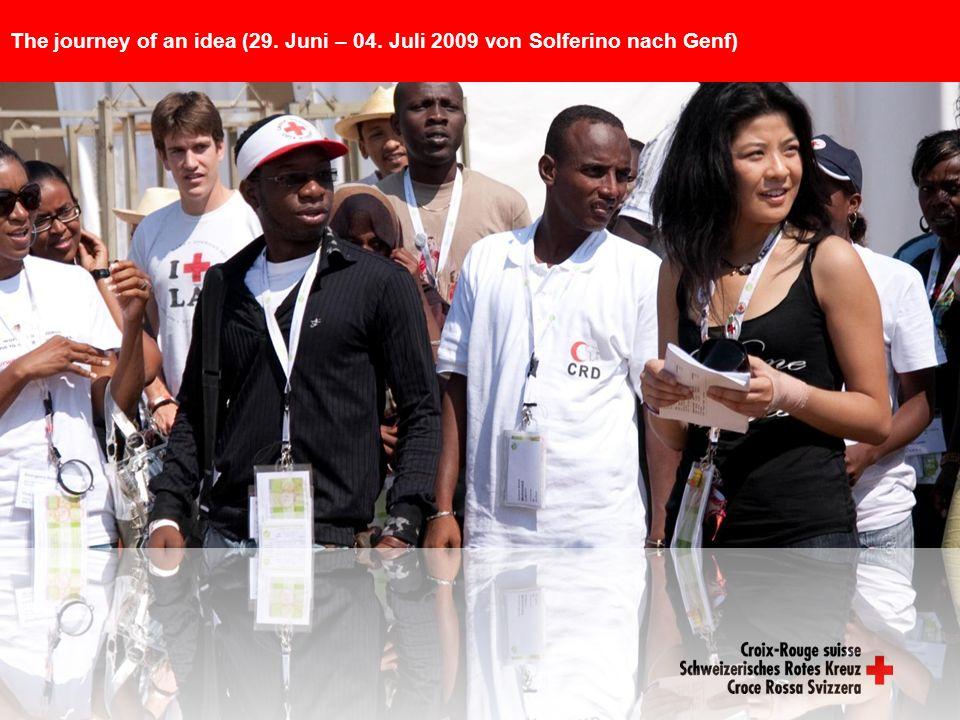 The journey of an idea (29. Juni – 04. Juli 2009 von Solferino nach Genf)