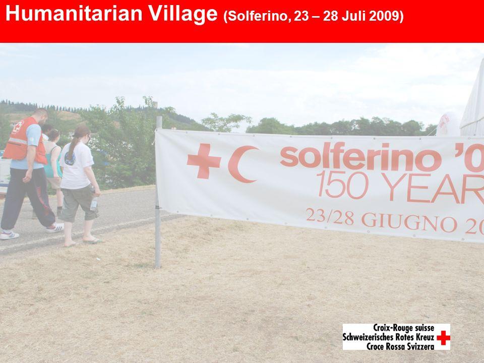 Humanitarian Village (Solferino, 23 – 28 Juli 2009)