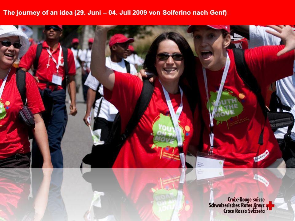 # 1.1 The journey of an idea (29. Juni – 04. Juli 2009 von Solferino nach Genf)