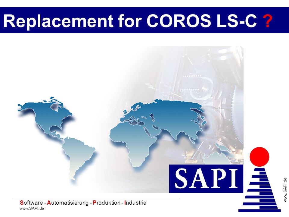 20 Software - Automatisierung - Produktion - Industrie www.SAPI.de 2 Starting situation Spare parts are not available Invest los Engineering .