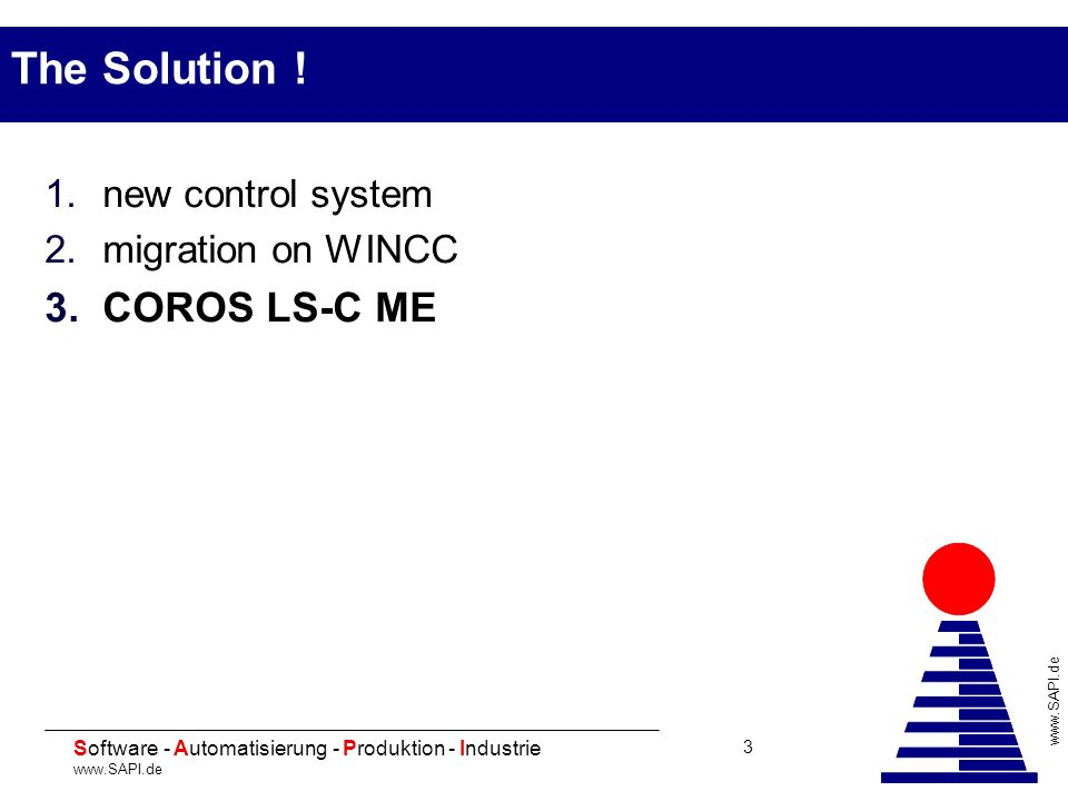 20 Software - Automatisierung - Produktion - Industrie www.SAPI.de 14 Advantages of LS-C ME (1) Standard computer applicable Use of Windows 2000/XP Performance increase Use of current standard printers Integration into existing networks - Employment of modern safeguard methods - Use of net drive assemblies - Use of network printers