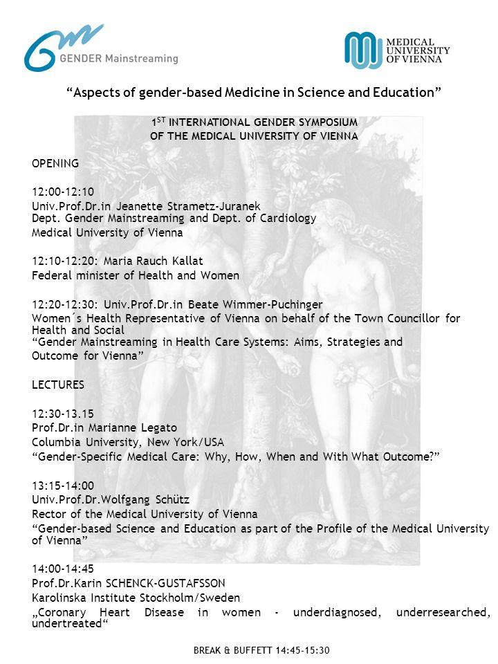 OPENING 12:00-12:10 Univ.Prof.Dr.in Jeanette Strametz-Juranek Dept.