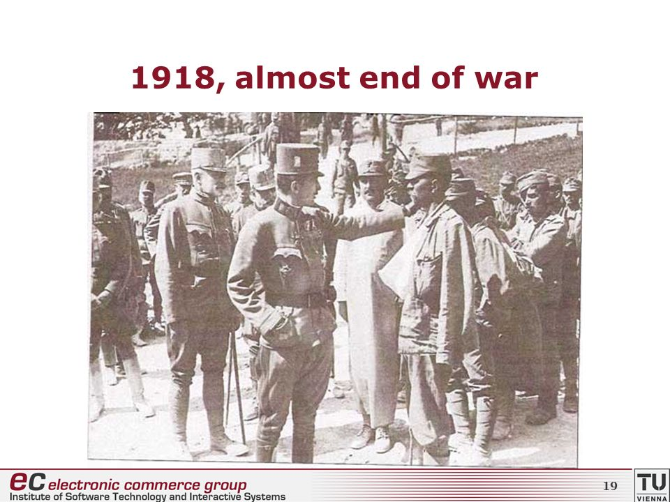 1918, almost end of war 19
