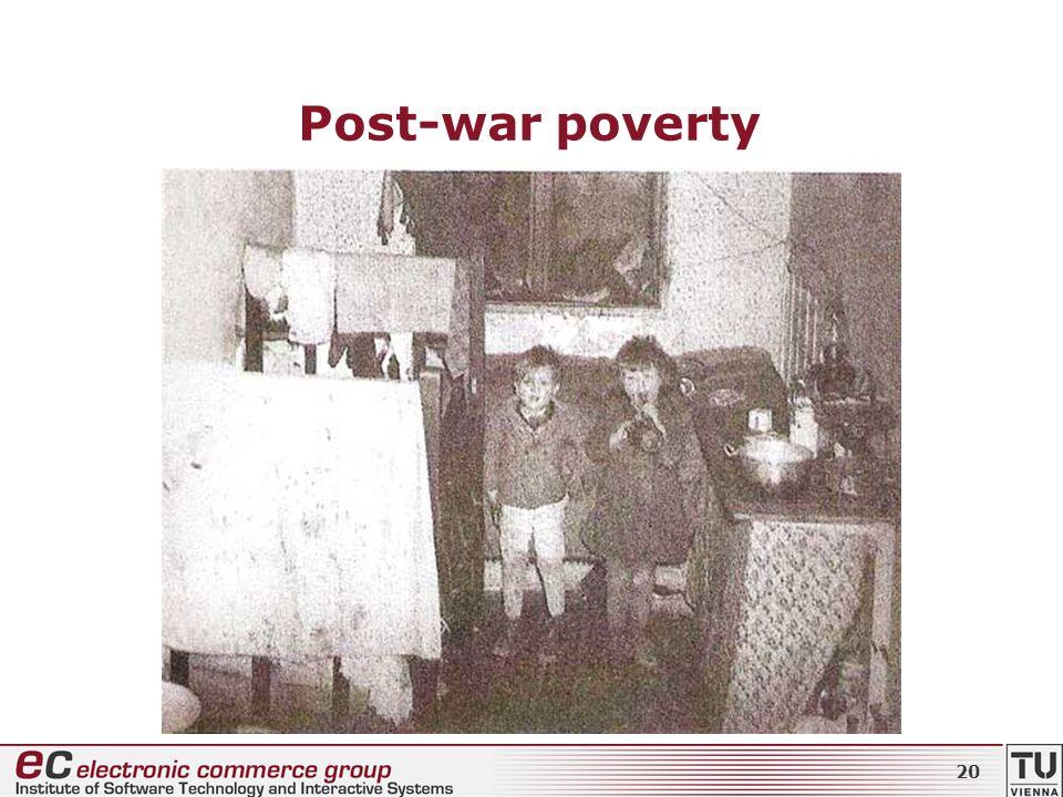 Post-war poverty 20