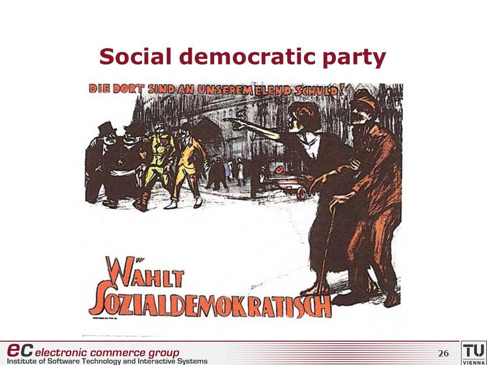 Social democratic party 26