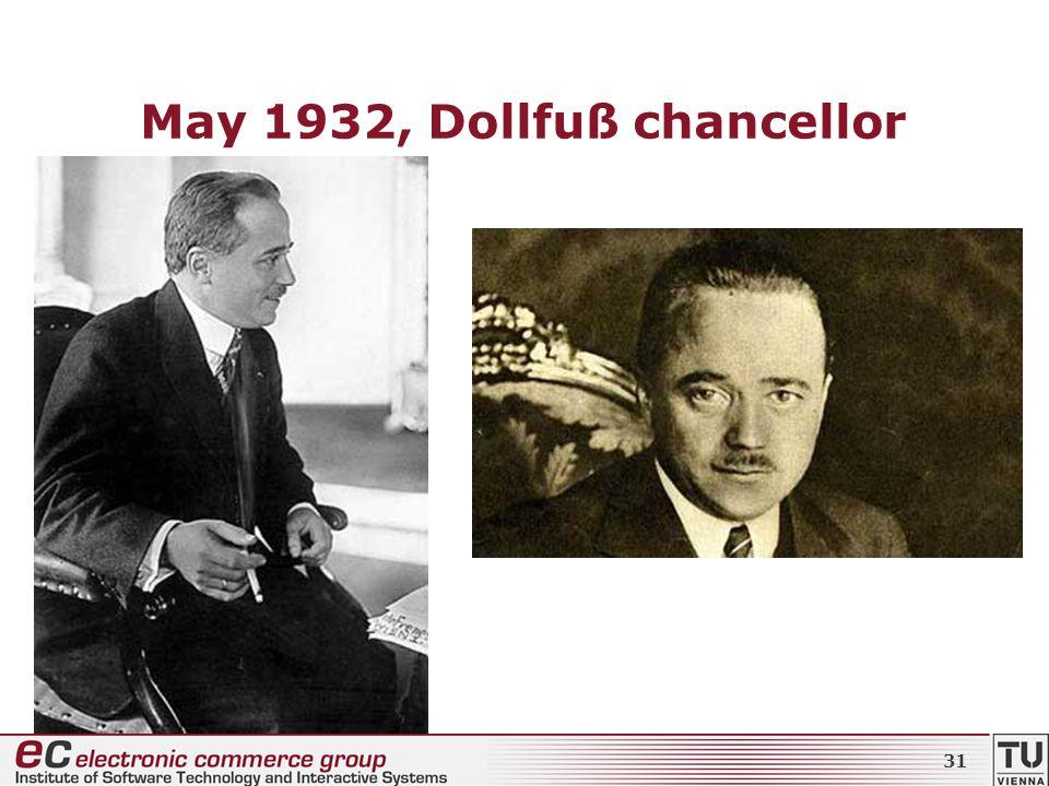 May 1932, Dollfuß chancellor 31