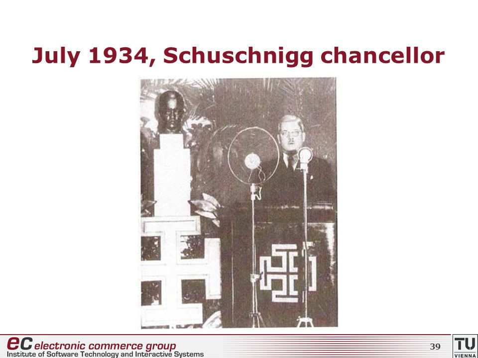 July 1934, Schuschnigg chancellor 39