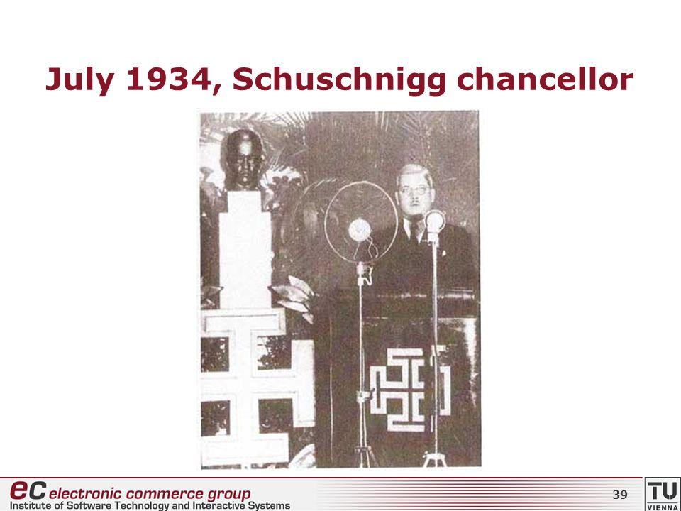 July 1934, Schuschnigg chancellor 39
