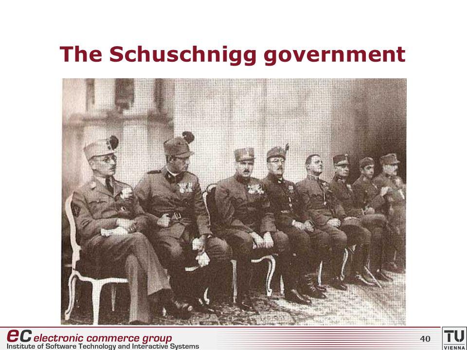 The Schuschnigg government 40