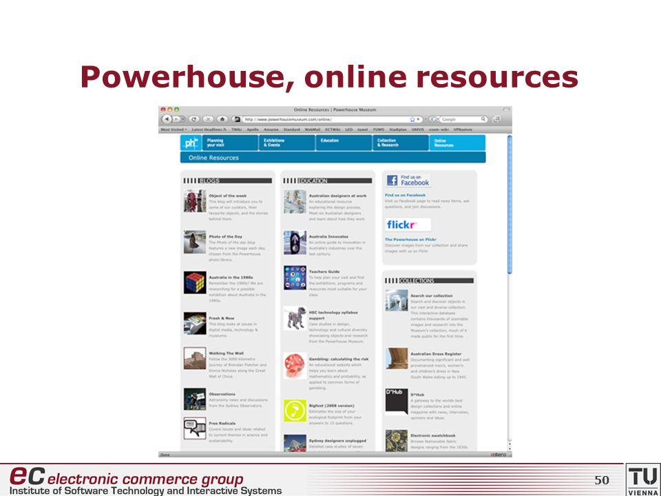 Powerhouse, online resources 50