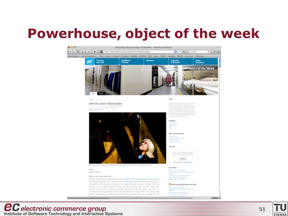 Powerhouse, object of the week 51