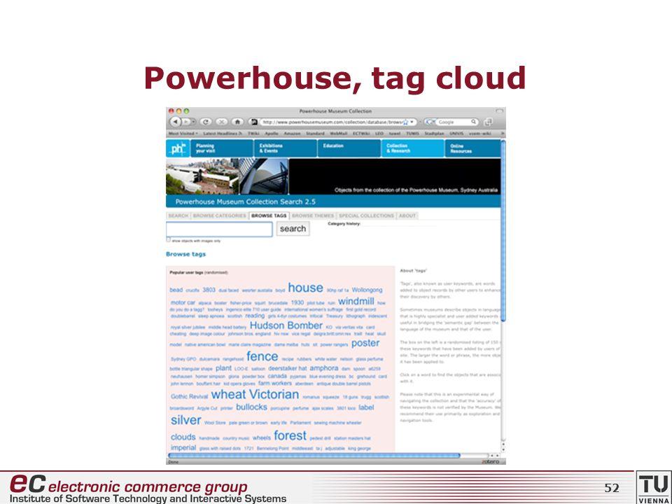 Powerhouse, tag cloud 52