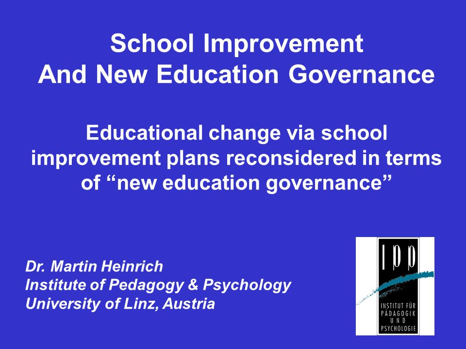Education governance as a synonym for bureaucracy and control.