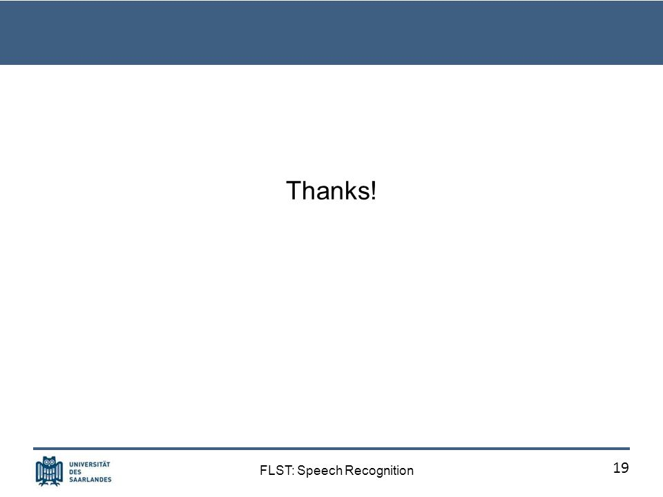 FLST: Speech Recognition Human-machine dialog 18
