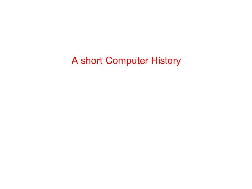 A short Computer History