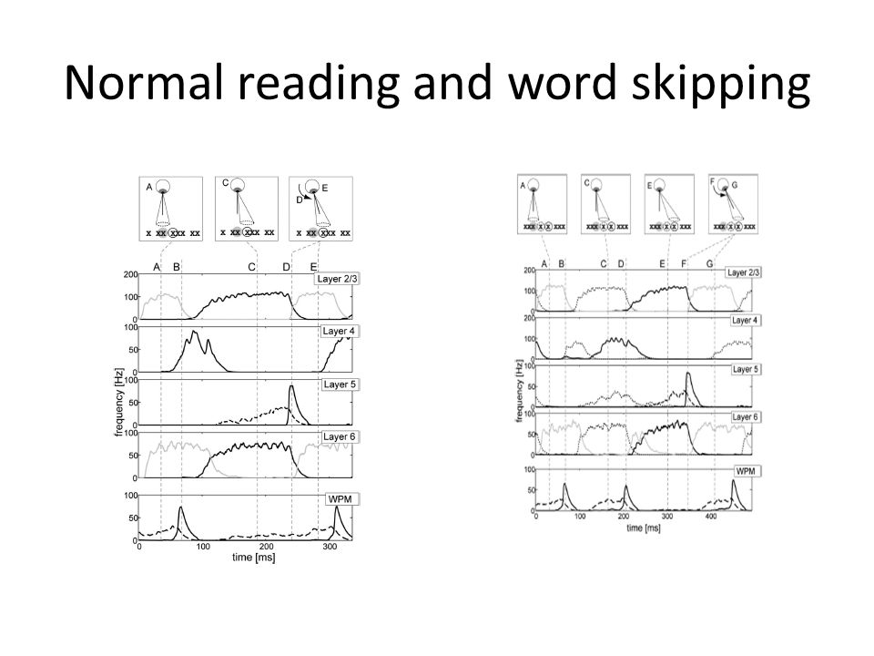 Normal reading and word skipping