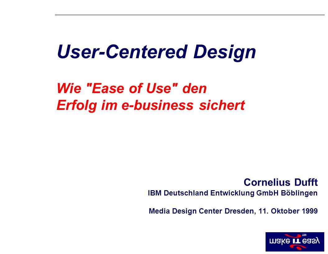 Cornelius Dufft IBM Deutschland Entwicklung GmbH Böblingen Media Design Center Dresden, 11.