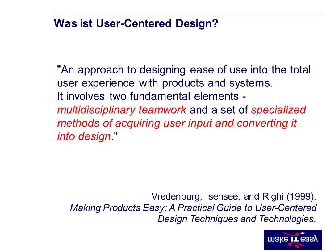Was ist User-Centered Design.