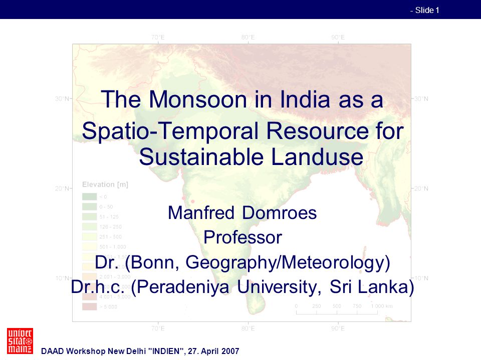 - Slide 1 DAAD Workshop New Delhi INDIEN , 27.