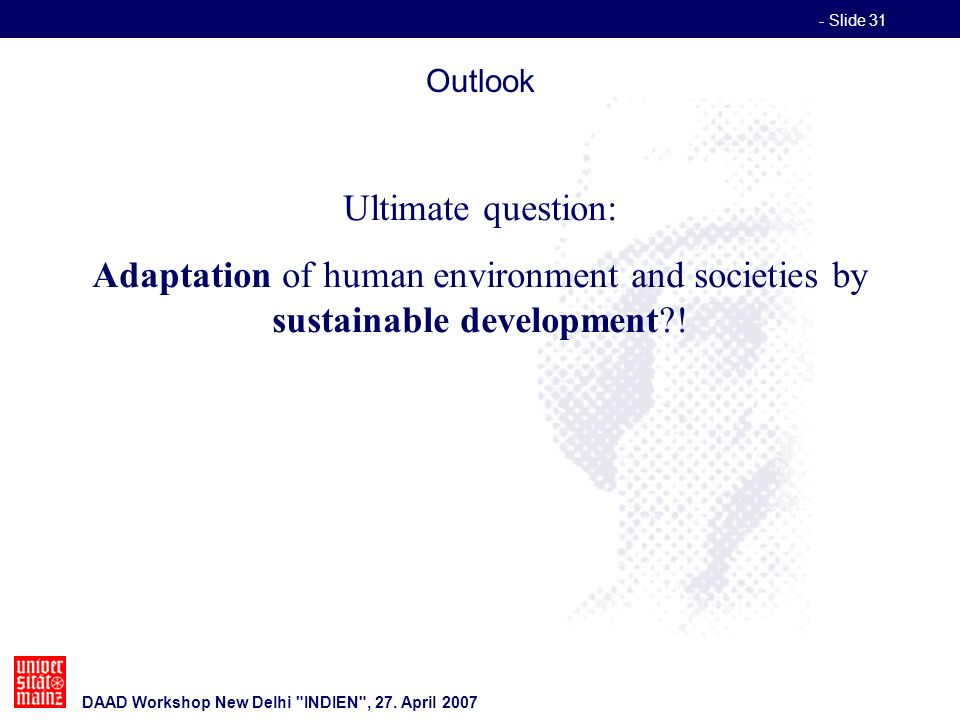 - Slide 31 DAAD Workshop New Delhi INDIEN , 27.