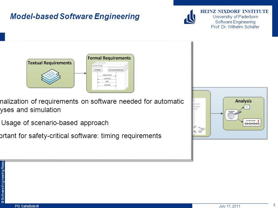 © Software Engineering Research Group, Heinz Nixdorf Institute, University of Paderborn HEINZ NIXDORF INSTITUTE Universitiy of Paderborn Software Engineering Prof.