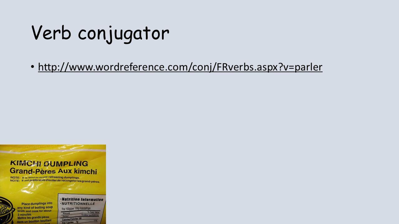 Verb conjugator http://www.wordreference.com/conj/FRverbs.aspx?v=parler