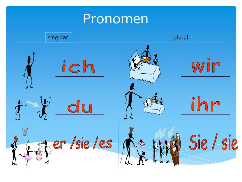 Pronomen singular plural