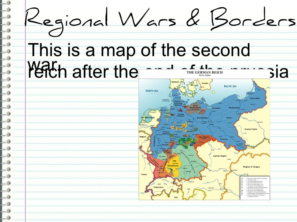This is a map of the second reich after the end of the prussia war.
