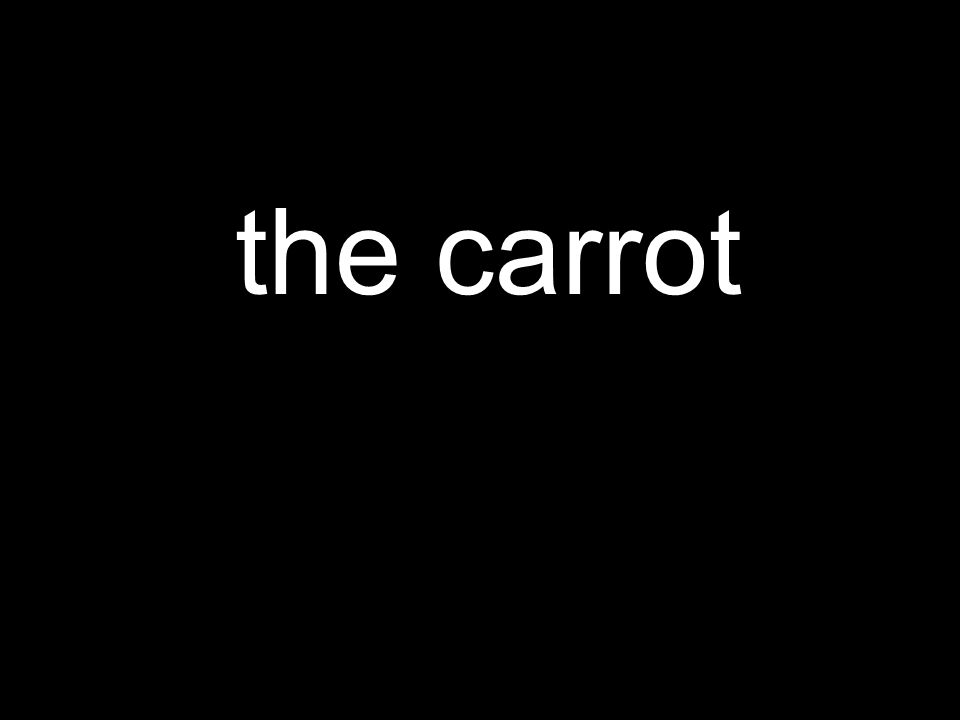 the carrot
