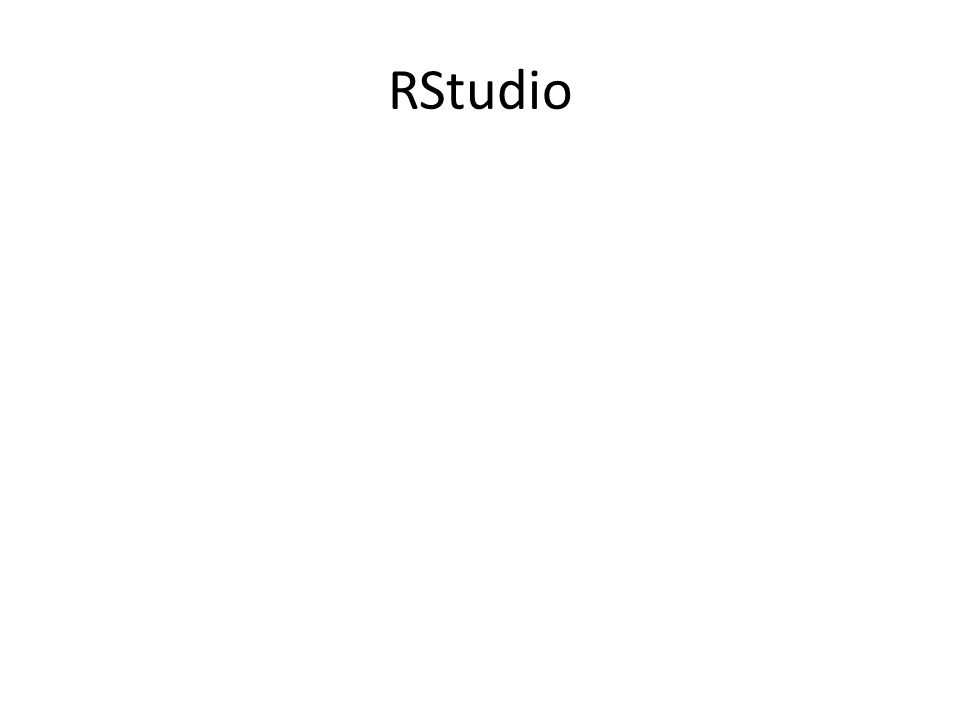 RStudio