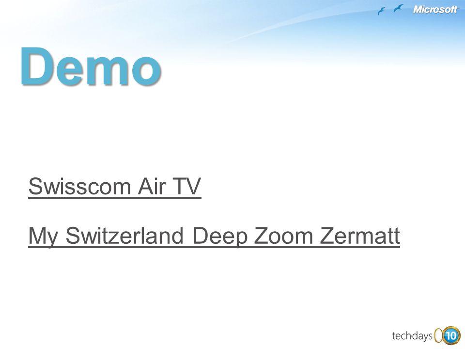 My Switzerland Deep Zoom Zermatt Swisscom Air TVDemo