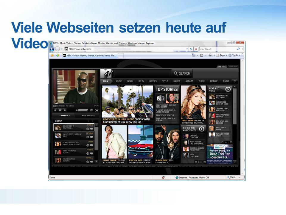 2007 Viele Webseiten setzen heute auf Videos MTV.com, 1996