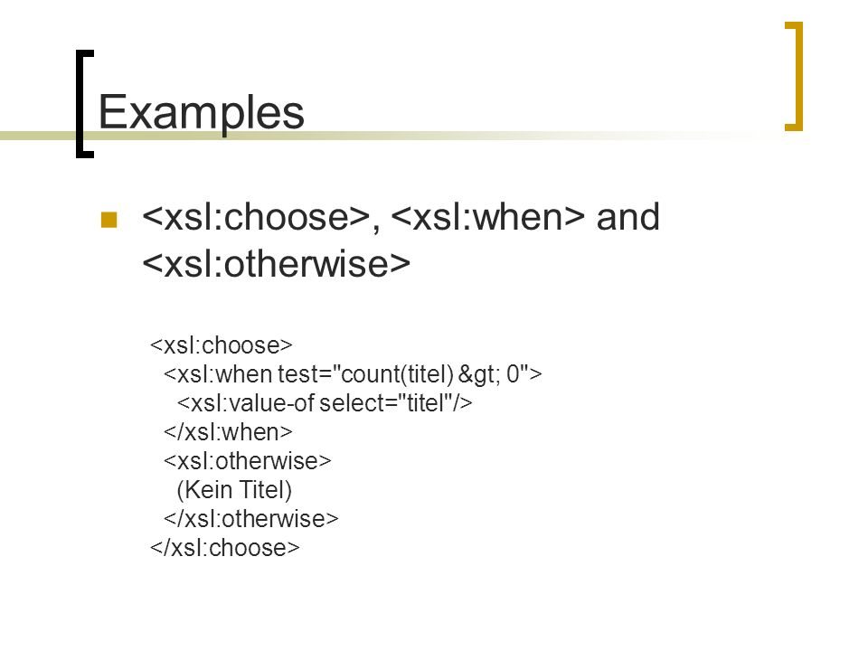 Examples, and (Kein Titel)