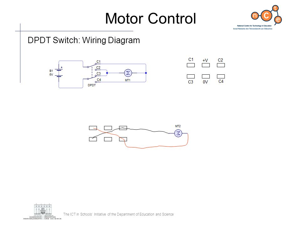 The ICT in Schools Initiative of the Department of Education and Science Motor Control DPDT Switch: Wiring Diagram