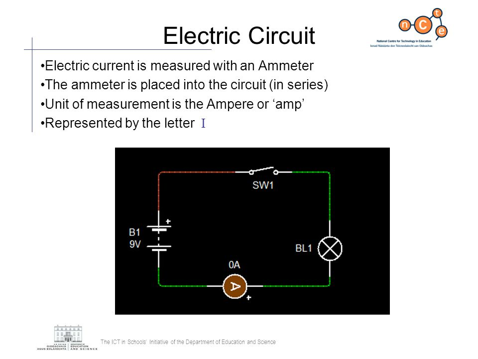 The ICT in Schools Initiative of the Department of Education and Science LDR Transistor Circuit An LDR changes the voltage according to light levels Dark = LED on