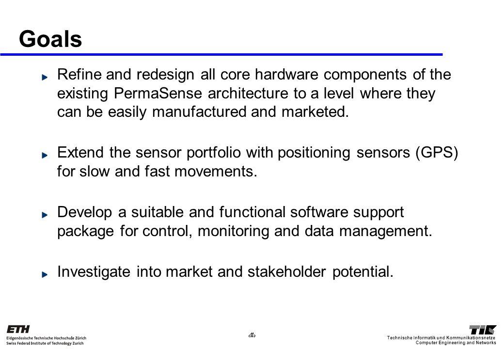 11 Computer Engineering and Networks Technische Informatik und Kommunikationsnetze Goals Refine and redesign all core hardware components of the exist