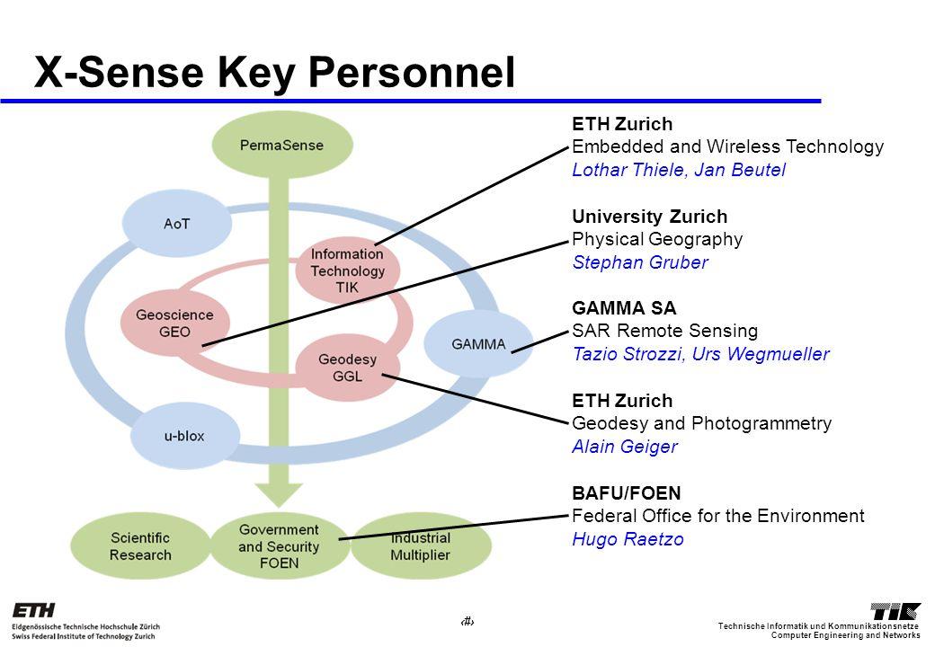 17 Computer Engineering and Networks Technische Informatik und Kommunikationsnetze X-Sense Key Personnel ETH Zurich Embedded and Wireless Technology L