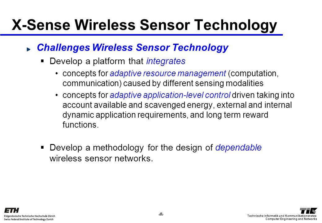 19 Computer Engineering and Networks Technische Informatik und Kommunikationsnetze X-Sense Wireless Sensor Technology Challenges Wireless Sensor Techn