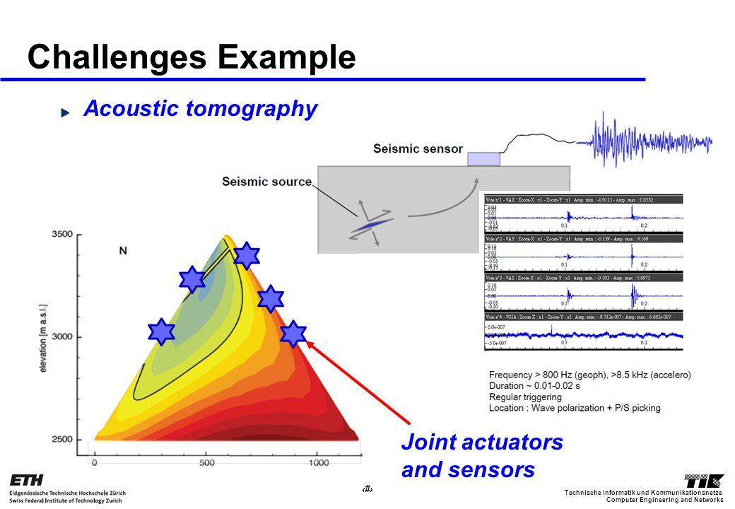 6 Computer Engineering and Networks Technische Informatik und Kommunikationsnetze Challenges Example Acoustic tomography Joint actuators and sensors