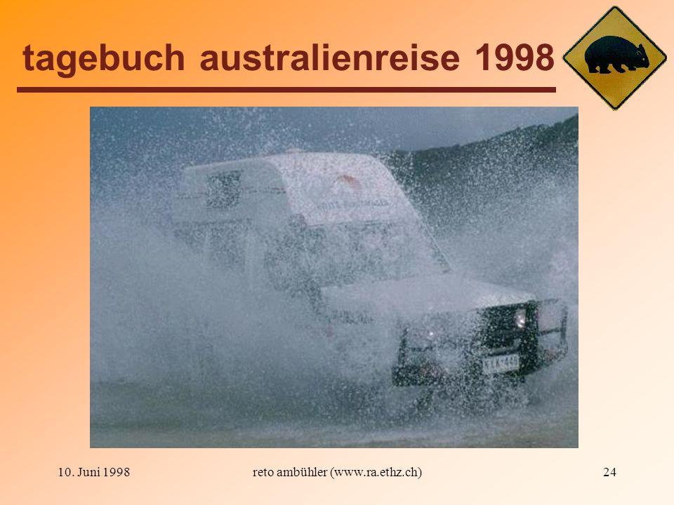 10. Juni 199824 tagebuch australienreise 1998 reto ambühler (www.ra.ethz.ch)