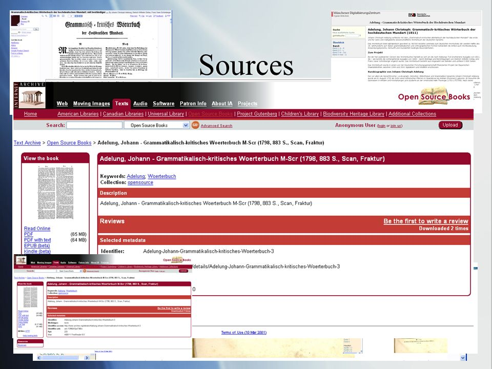 Sources Embed into VLE Download as pdf / print Conduct comparative analyses of different editions Navigate